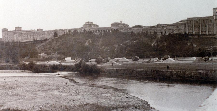 Vista de Lerma desde el río Arlanza
