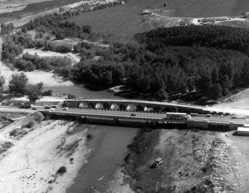 Río Arlanza mediados de los 60 del sigo XX