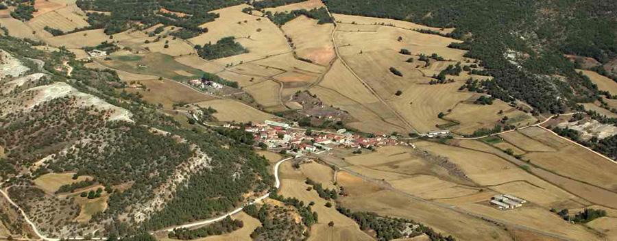 Vista aérea de Quintanilla del Coco