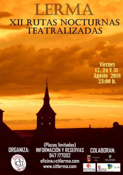 Cartel de las Rutas Nocturnas Teatralizadas