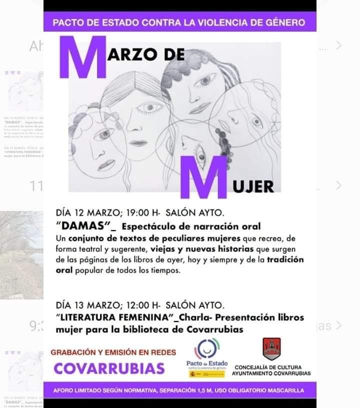 MARZO DE MUJER en Covarrubias @ Covarrubias