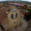 Vista aérea de la iglesia de Quintanilla del Agua. Foto: Darío Yáñez Ortega.